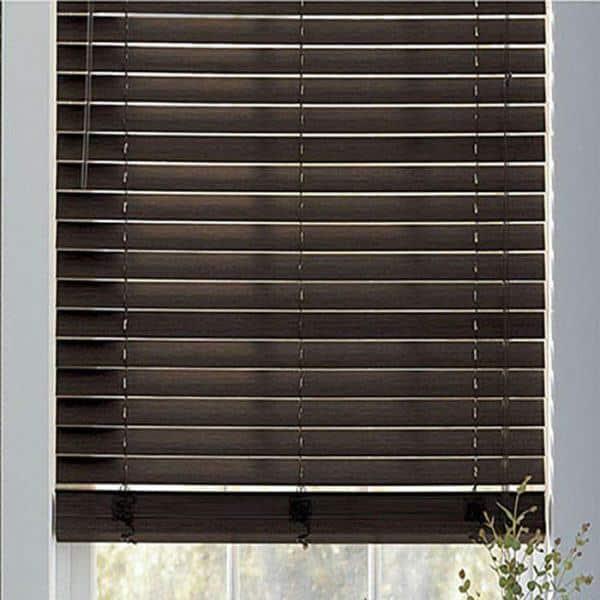 Rèm gỗ cửa sổ màu nâu trầm
