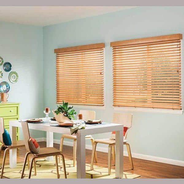Rèm gỗ cửa sổ phòng ăn sang trọng