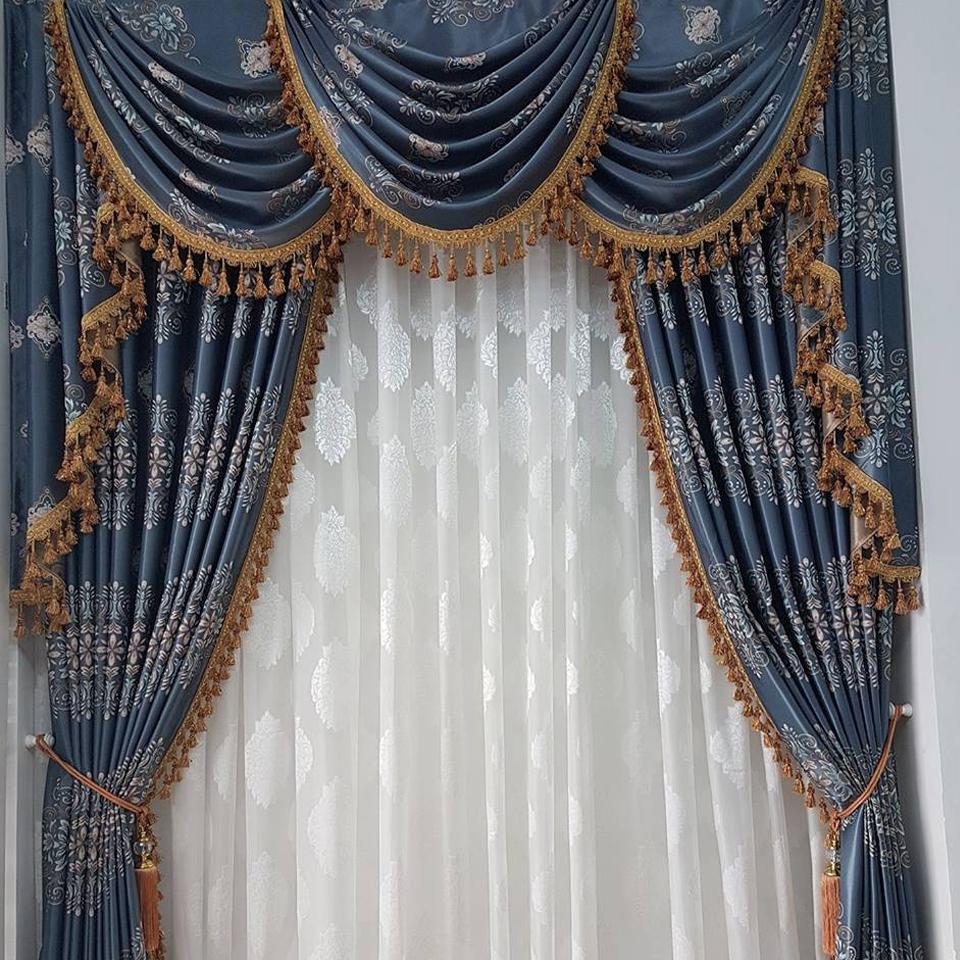 Rèm vải Hoa Văn Phòng Khách